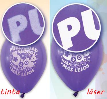 Diferentes tipo de impresión en globos